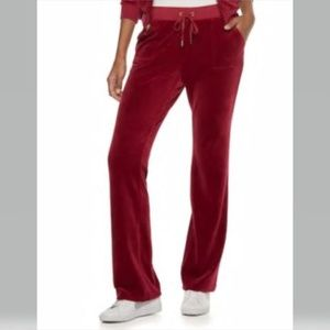 Juicy Couture Velour Bootcut Pants-Pomegranate